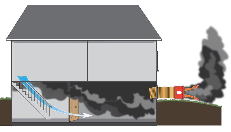 خارج شدن دود از ساختمان